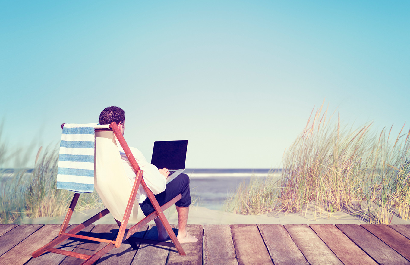 Keep Tabs on Your Business from the Beach