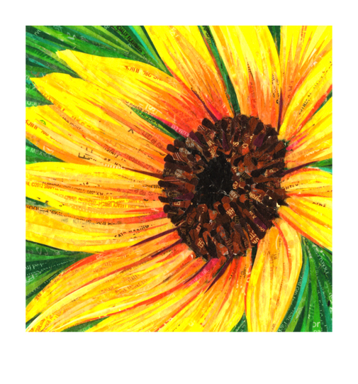 4.5x4.5 Giclee Print – Yellow Sunflower Made With Recycled ...