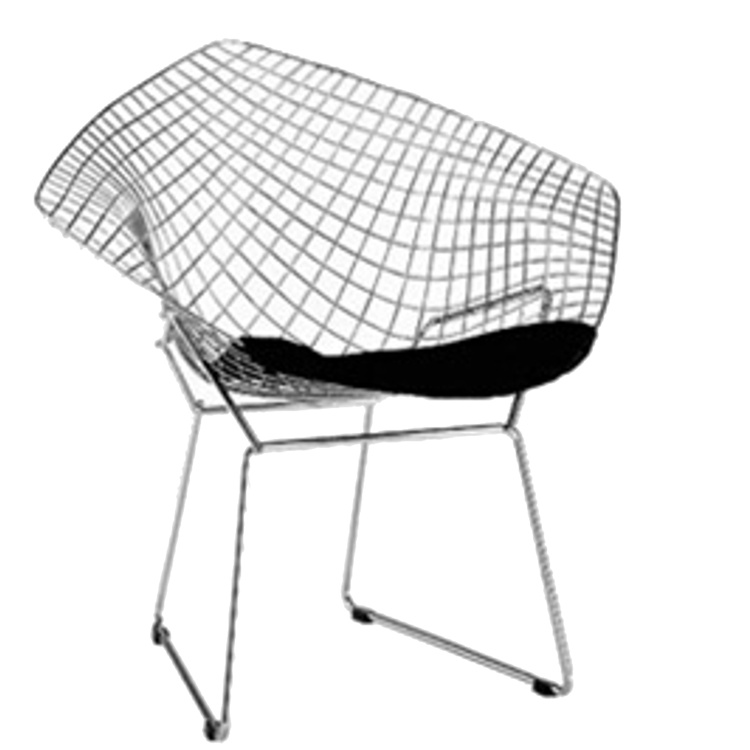 wire diamond chair. Black Bedroom Furniture Sets. Home Design Ideas