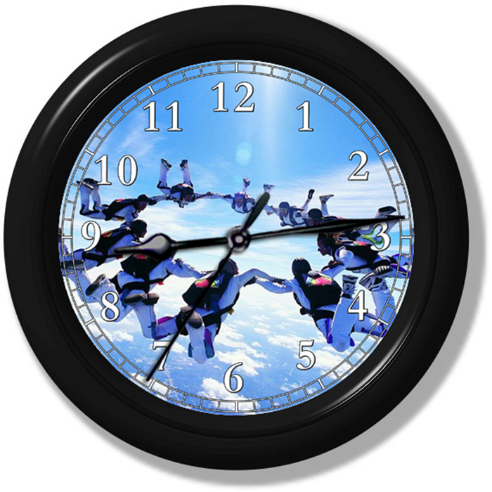 Skydiving Wall Clock