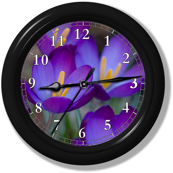 Crocus Flower Wall Clock