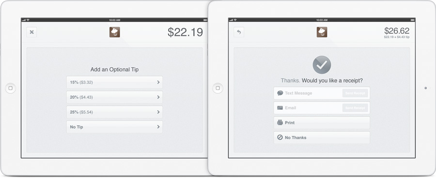 Square Register Ipad Point Of Sale System Makes Old Cash